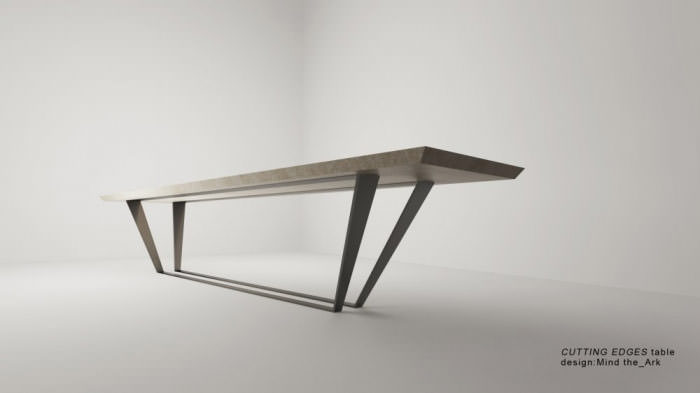 Cutting Edges table | Industrial design