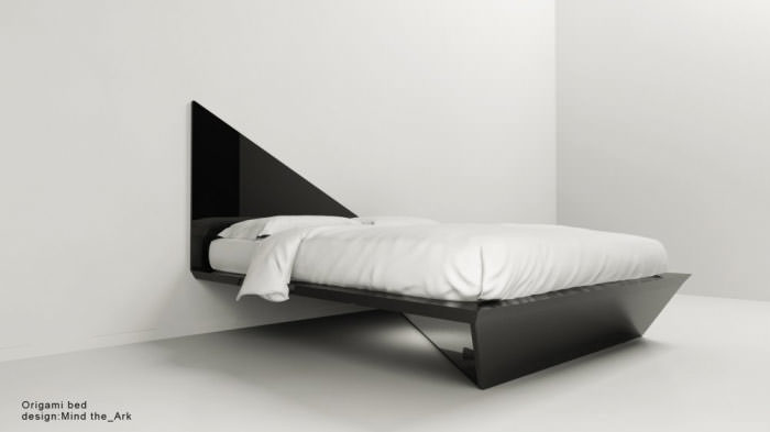 Origami bed | Industrial design