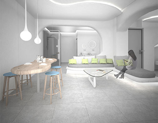 Πρόταση μελέτης Σουίτας σε ξενοδοχειακό συγκρότημα στη Νάξο