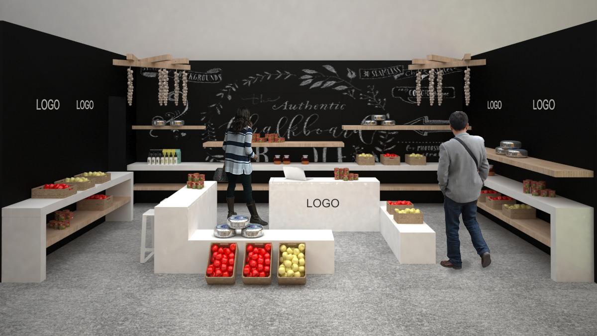 Σχεδιασμός concept mpakaliko για την έκθεση 100%hotel show 2017